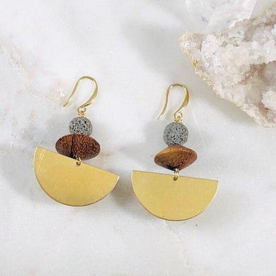 Bea Half Disc Earrings Handmade for a Modern, Boho Vibe