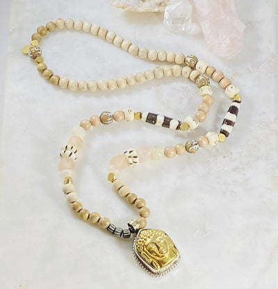 Handmade Buddha talisman necklace rich with spiritual energy