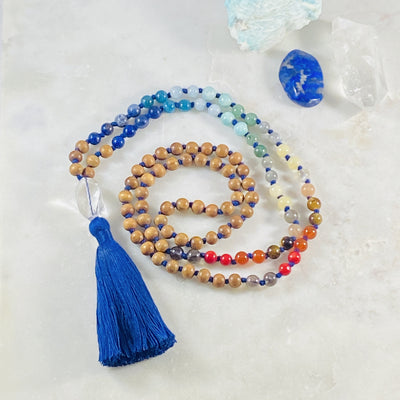 Chakra balance mala for yoga and meditation from Sarah Belle