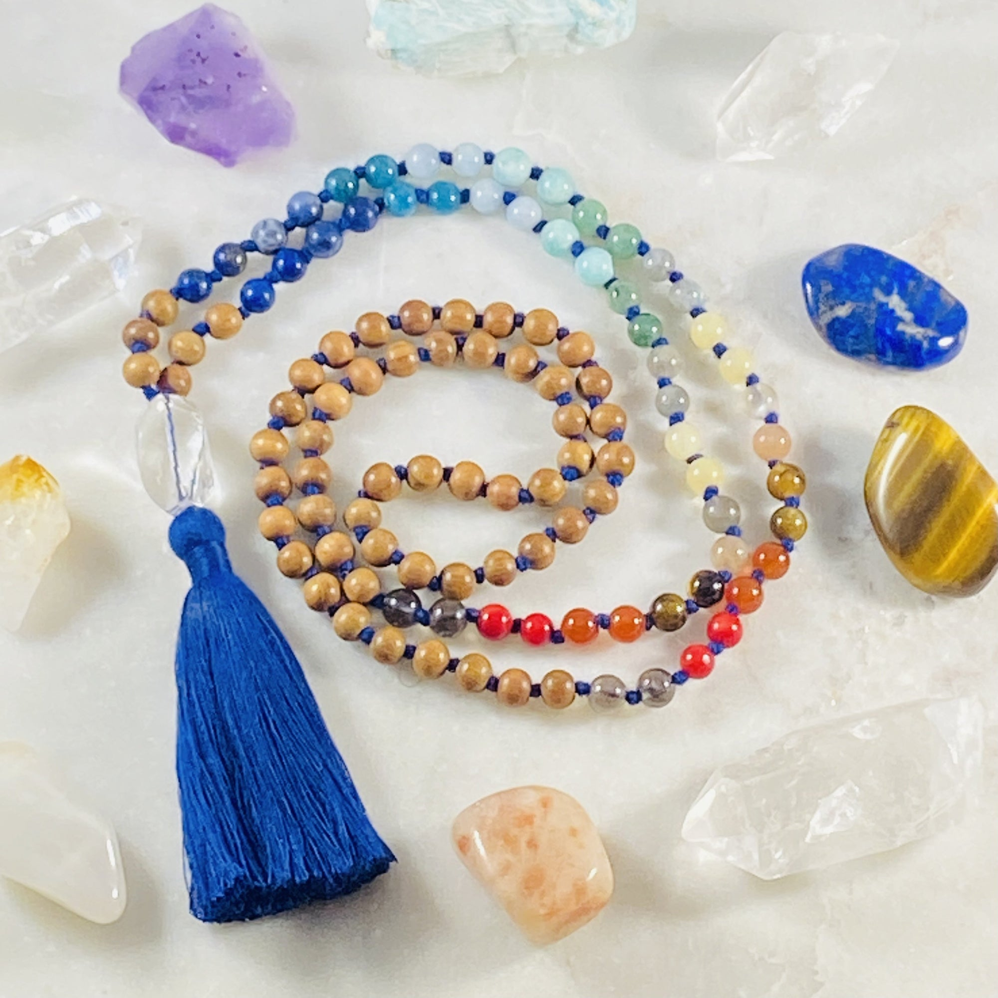 Chakra mala for balance and meditation by Sarah Belle