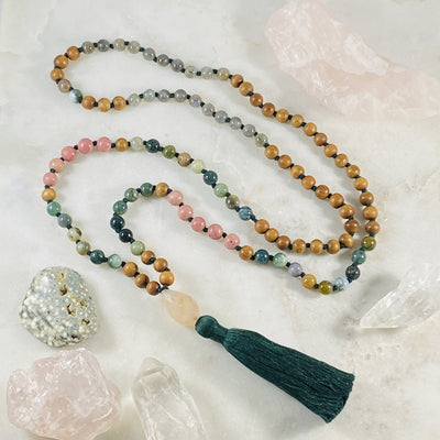 Compassion mala for mantra meditation by Sarah Belle