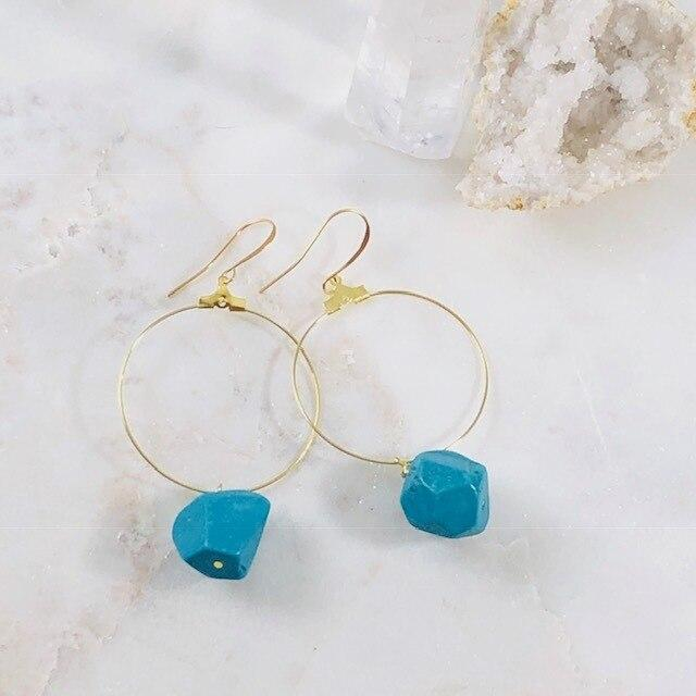 Cora Turquoise Hoop Earrings