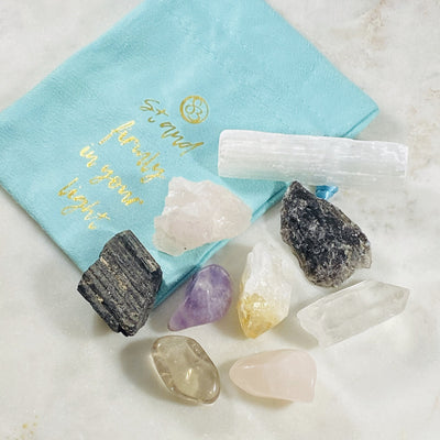 Healing crystals with quartz
