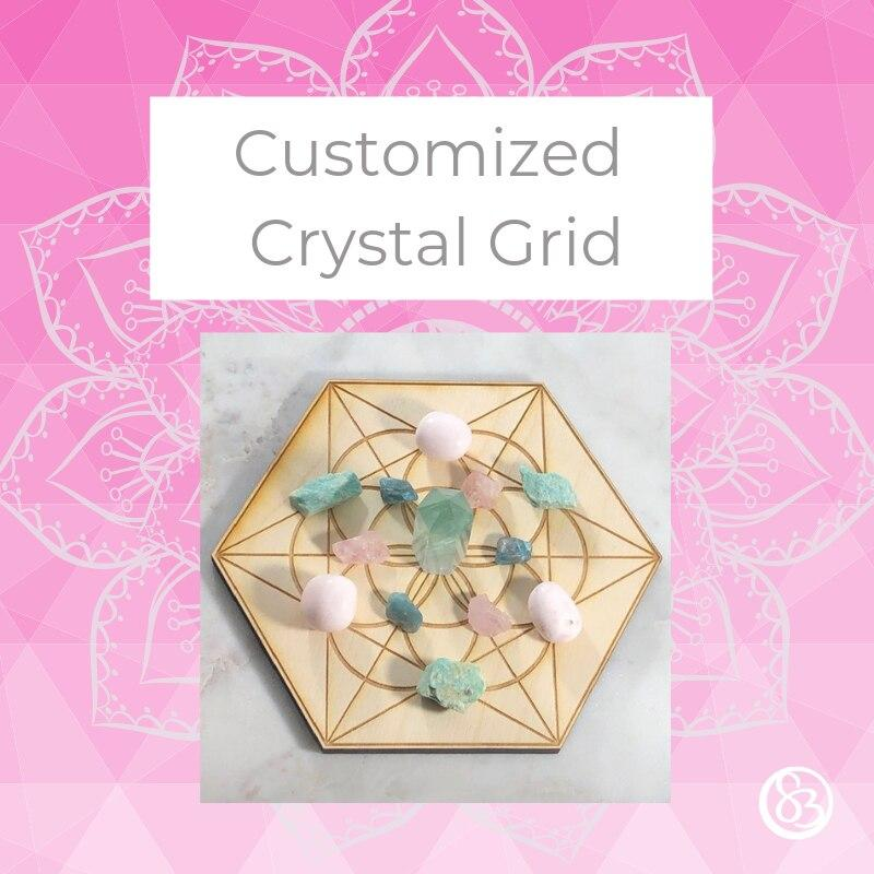Customized Crystal Grid for Crystal Energy, Healing, and Insight