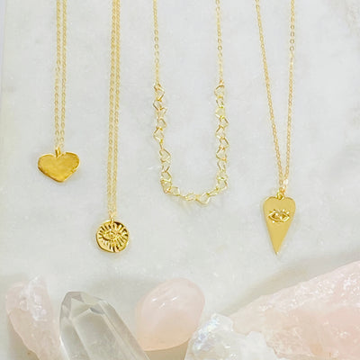 handmade gold filled layering necklaces