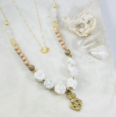 Handmade eclectic necklaces by Sarah Belle
