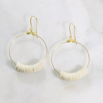 Handmade hoop earrings with modern minimalist style