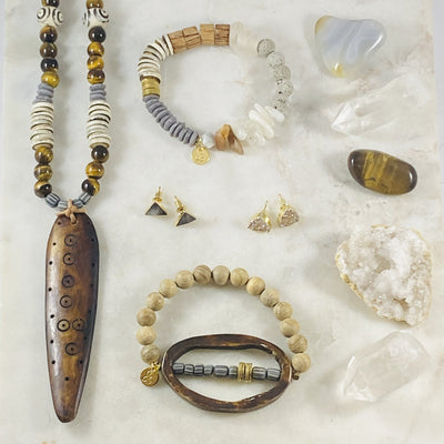 Shamanic and tribal influenced jewelry by Sarah Belle