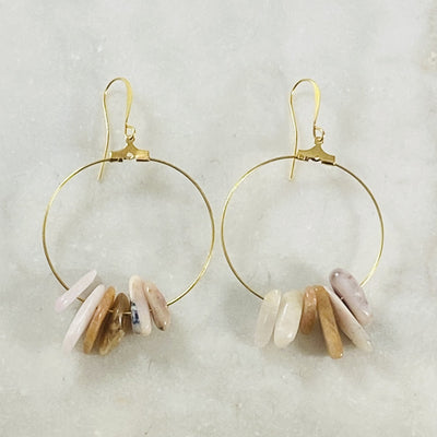 Handmade earrings with healing crystals by Sarah Belle