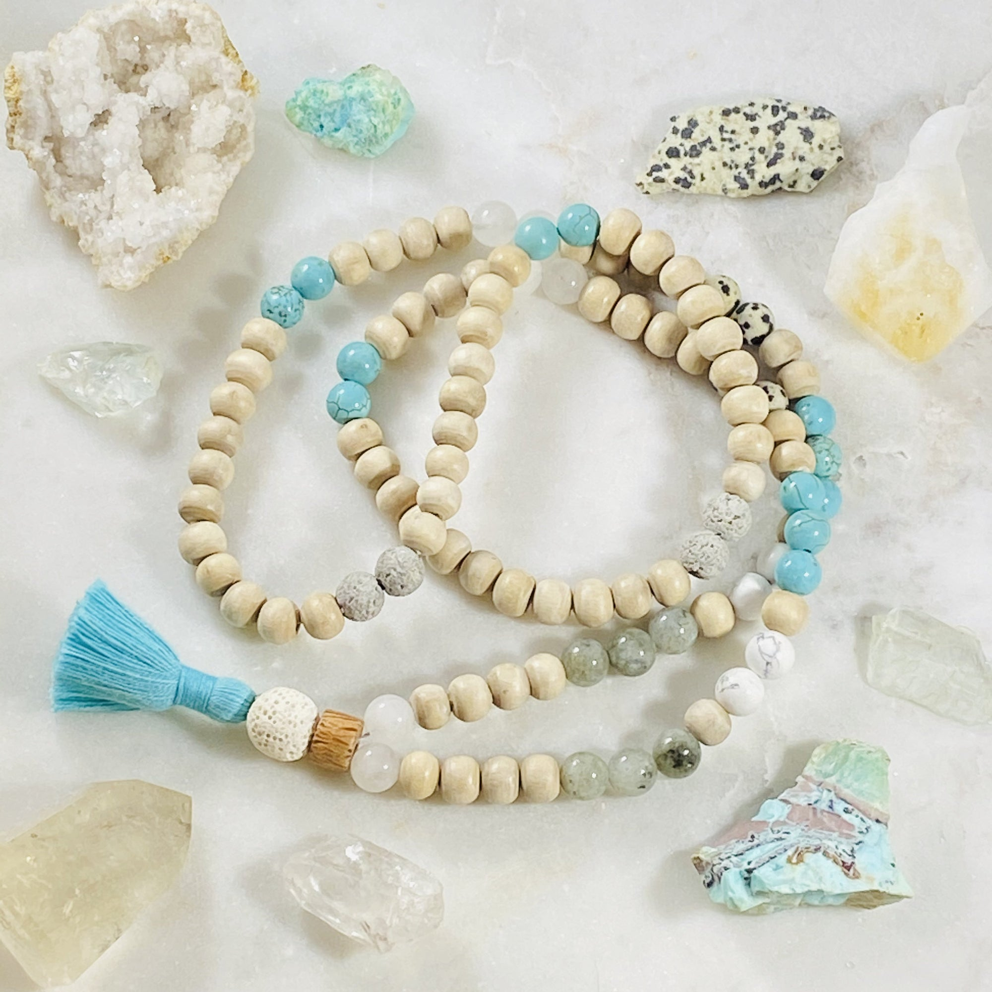 Handmade mala beads for yoga and meditation