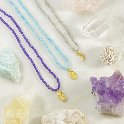 Buddha Amethyst Necklace