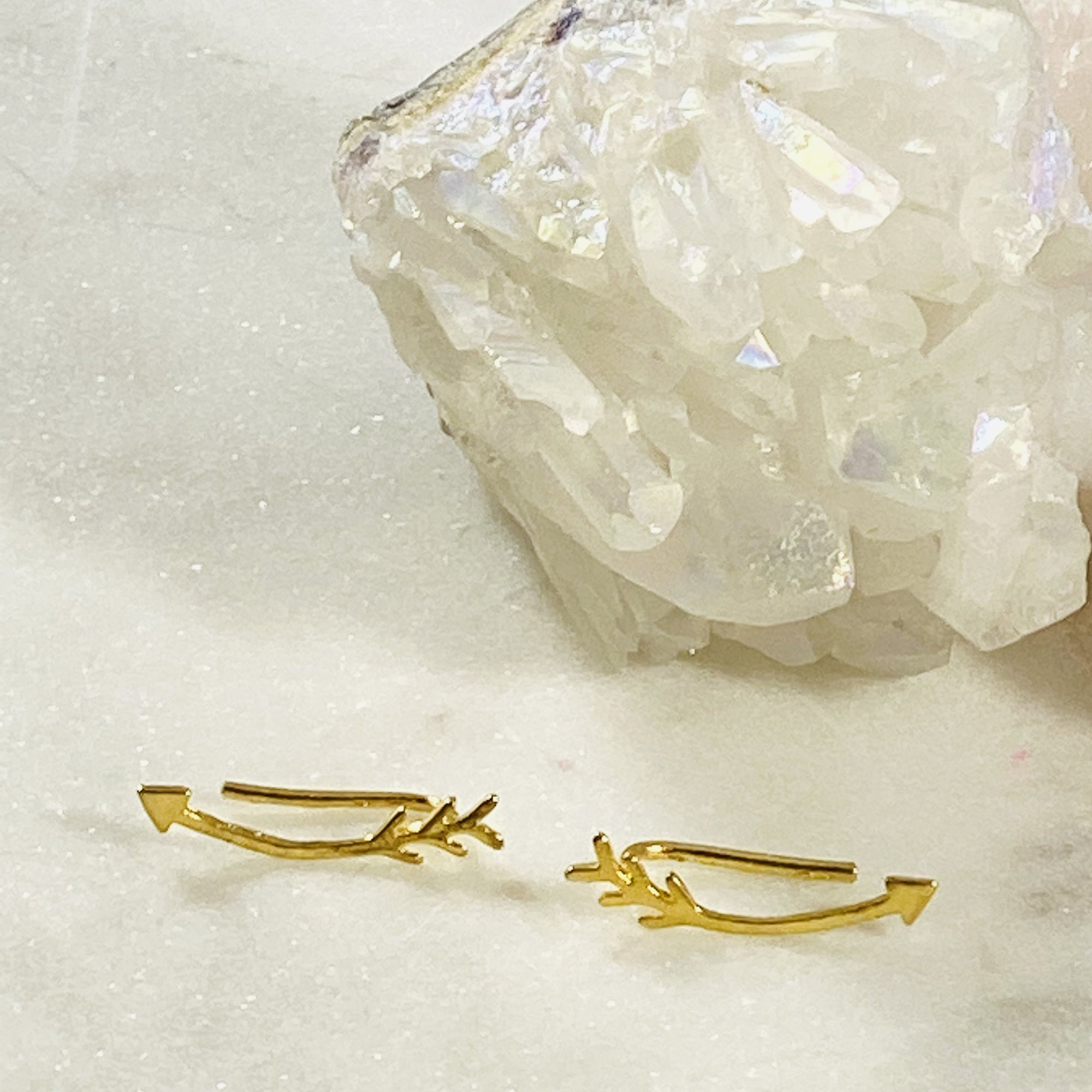 Cupid's Arrow Ear Climber Earrings