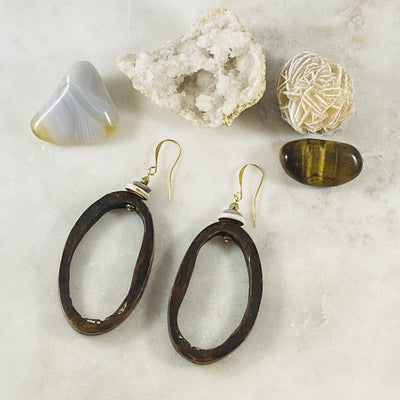 Handmade statement earrings by Sarah Belle for free spirits