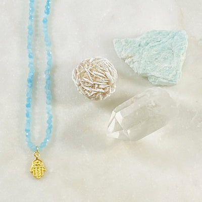Hamsa Amazonite Necklace