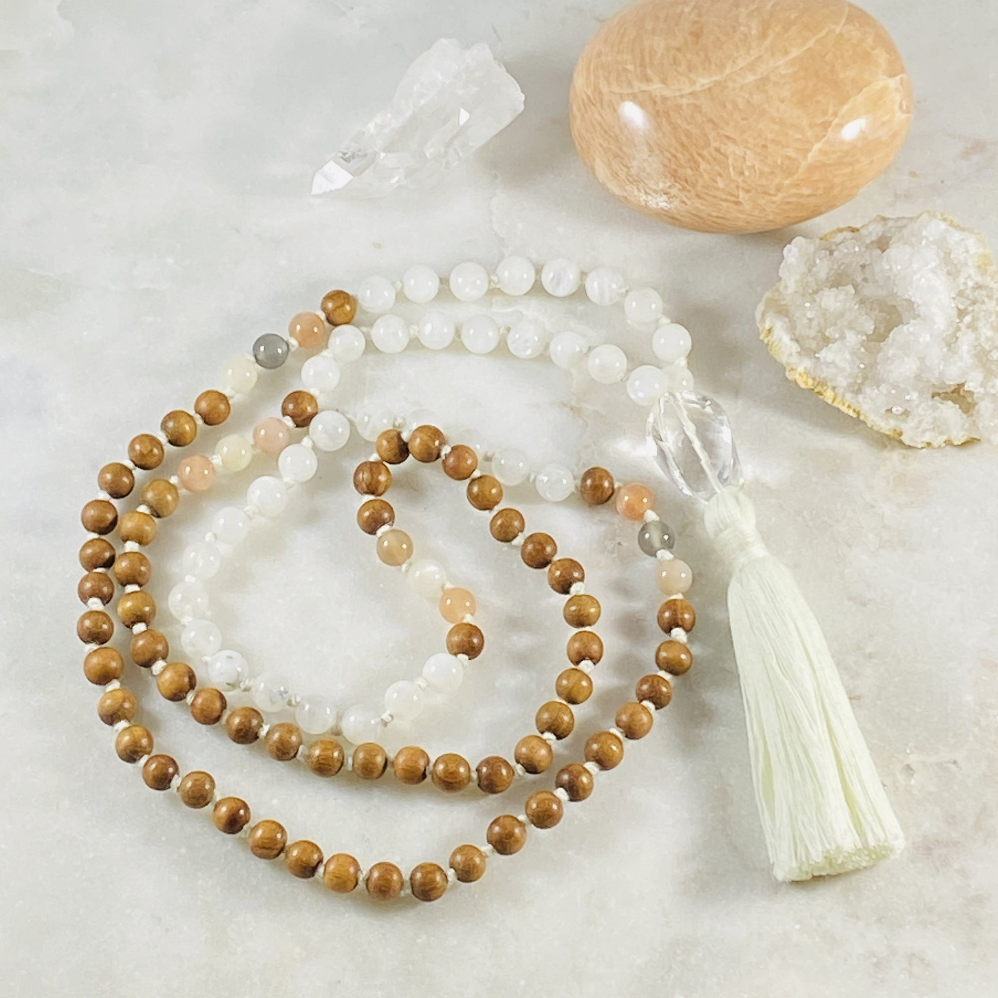 Higher Consciousness Mala for spiritual practice and meditation by Sarah Belle