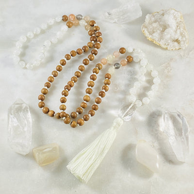 Higher Consciousness Mala handmade by artisans Sarah Belle
