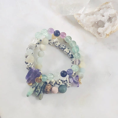 Handmade healing crystal bracelets for living with higher vibes