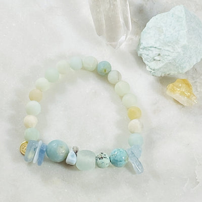 healing gemstone stacking bracelet custom jewelry