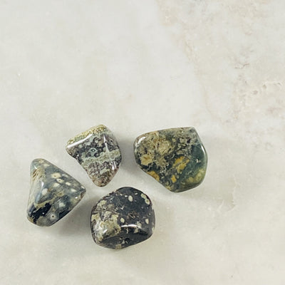 Ocean Jasper tumbled stone by Sarah Belle, for expressing your true feelings.