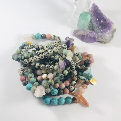 Elevate Stacking Bracelet Healing Crystal Jewelry for Relaxation and Joy