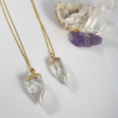 Celine Quartz Point Necklace Intentionally Created Crystal Jewelry