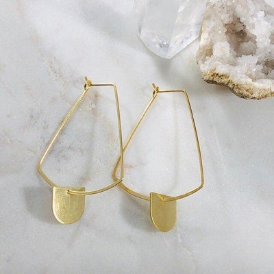 Tag Hoop Earrings for a Modern, Boho Style