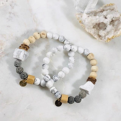 Be Calm Stacking Bracelet for Stress and Protection Energy