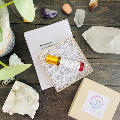 high vibrational custom blended oils and crystals for raising consciousness