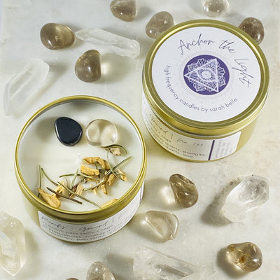 anchor the light ground and purify crystal candle from sarah belle