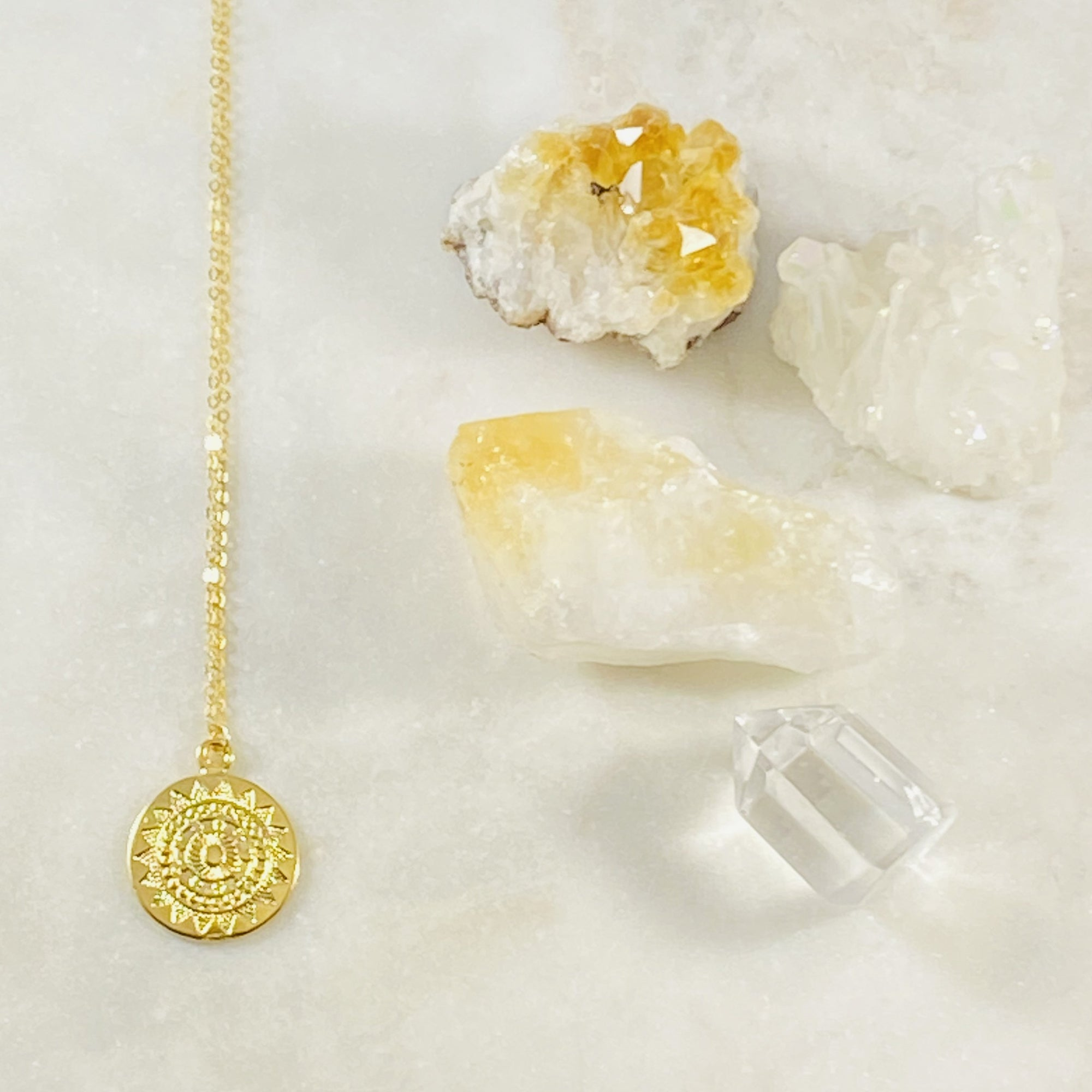 Mandala Sun Charm Necklace