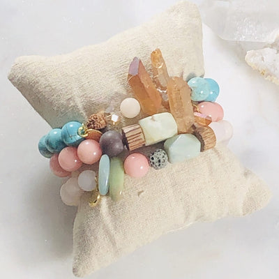 Inspiration Bracelet Stack (Diffuser) Intuitively Created for Meditation and Healing the Spirit