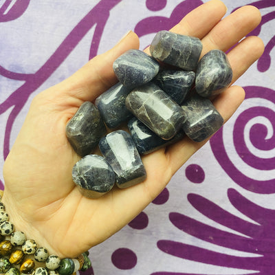 iolite tumbled stone for third eye
