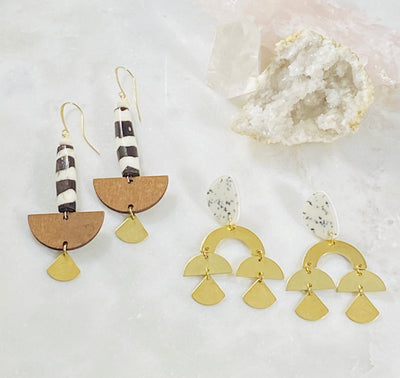 Handmade statement earrings Sarah Belle