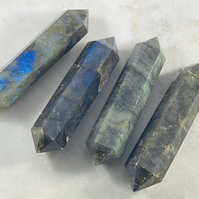 double terminated labradorite point by sarah belle