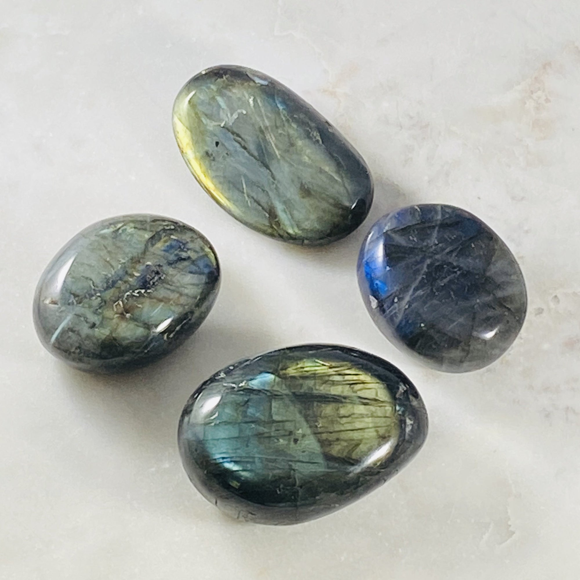 Labradorite palm stone for raising your vibration