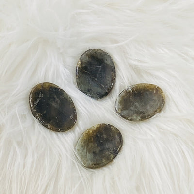 Healing labradorite worry stone for psychic protection