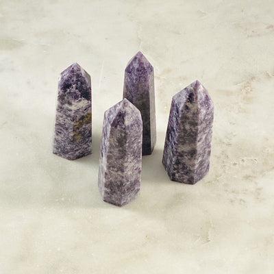 Healing crystals lepidolite points