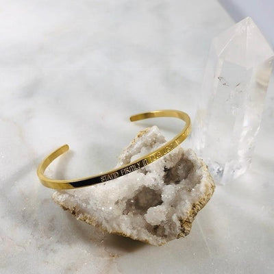 Mantra Cuff - Stand Firmly in Your Light Bracelet from Sarah Belle
