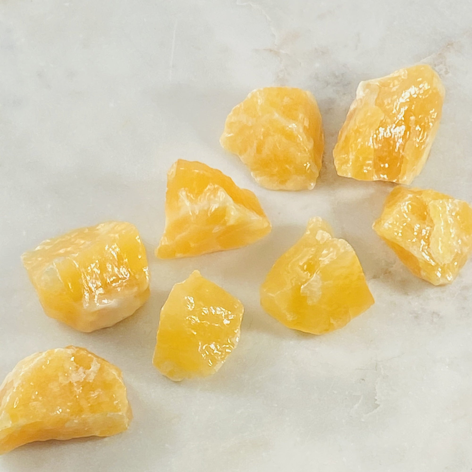 Orange calcite for creativity