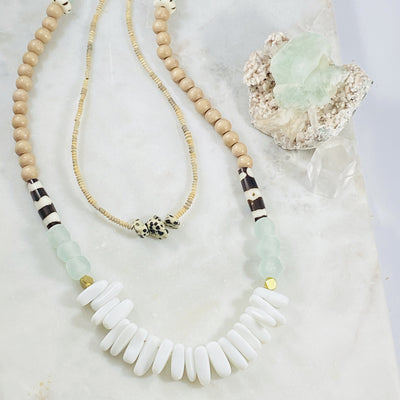 Handmade boho necklaces with healing crystal energy from Sarah Belle