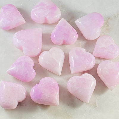 pink aragonite heart from sarah belle