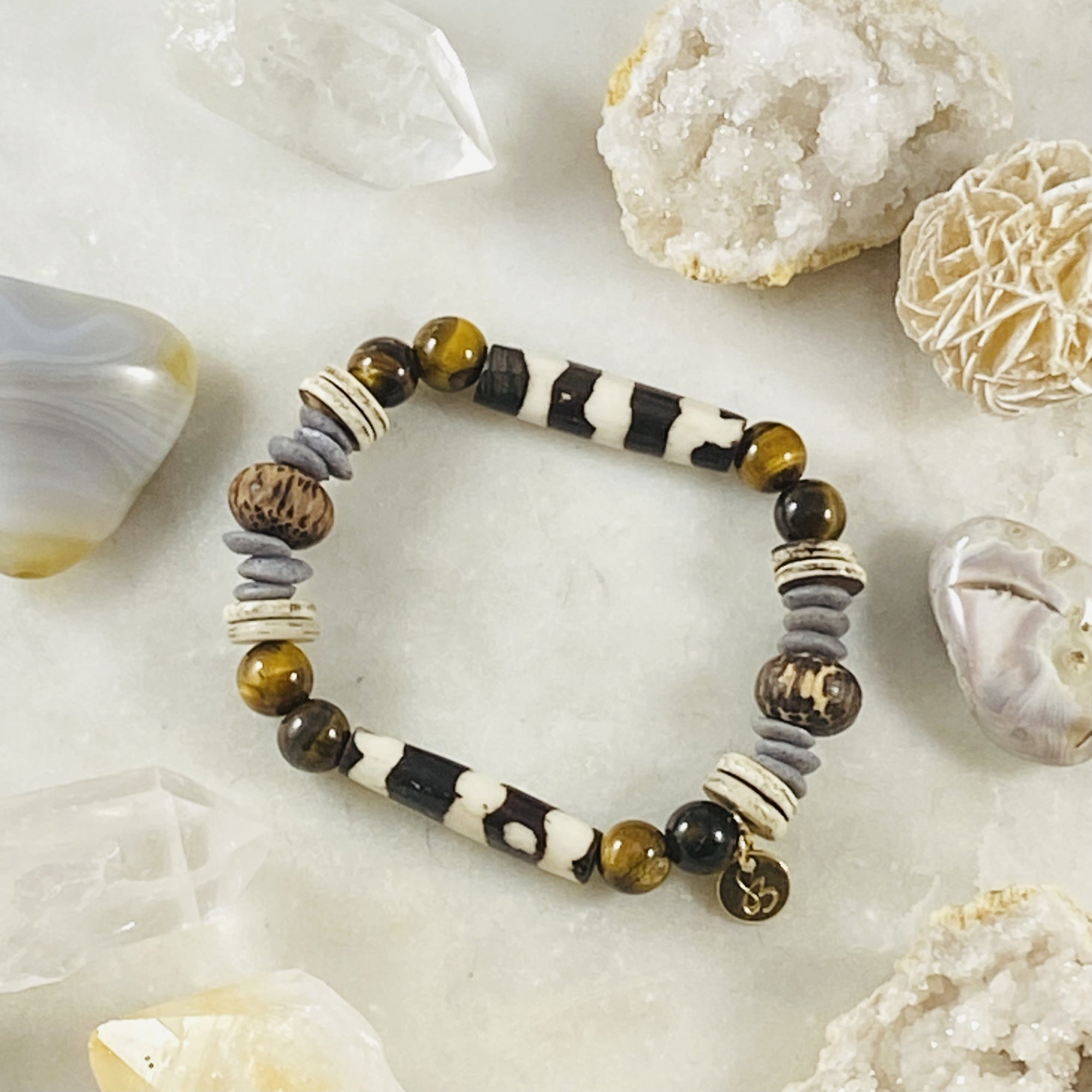 Handmade Pono Pono stacking bracelet by Sarah Belle