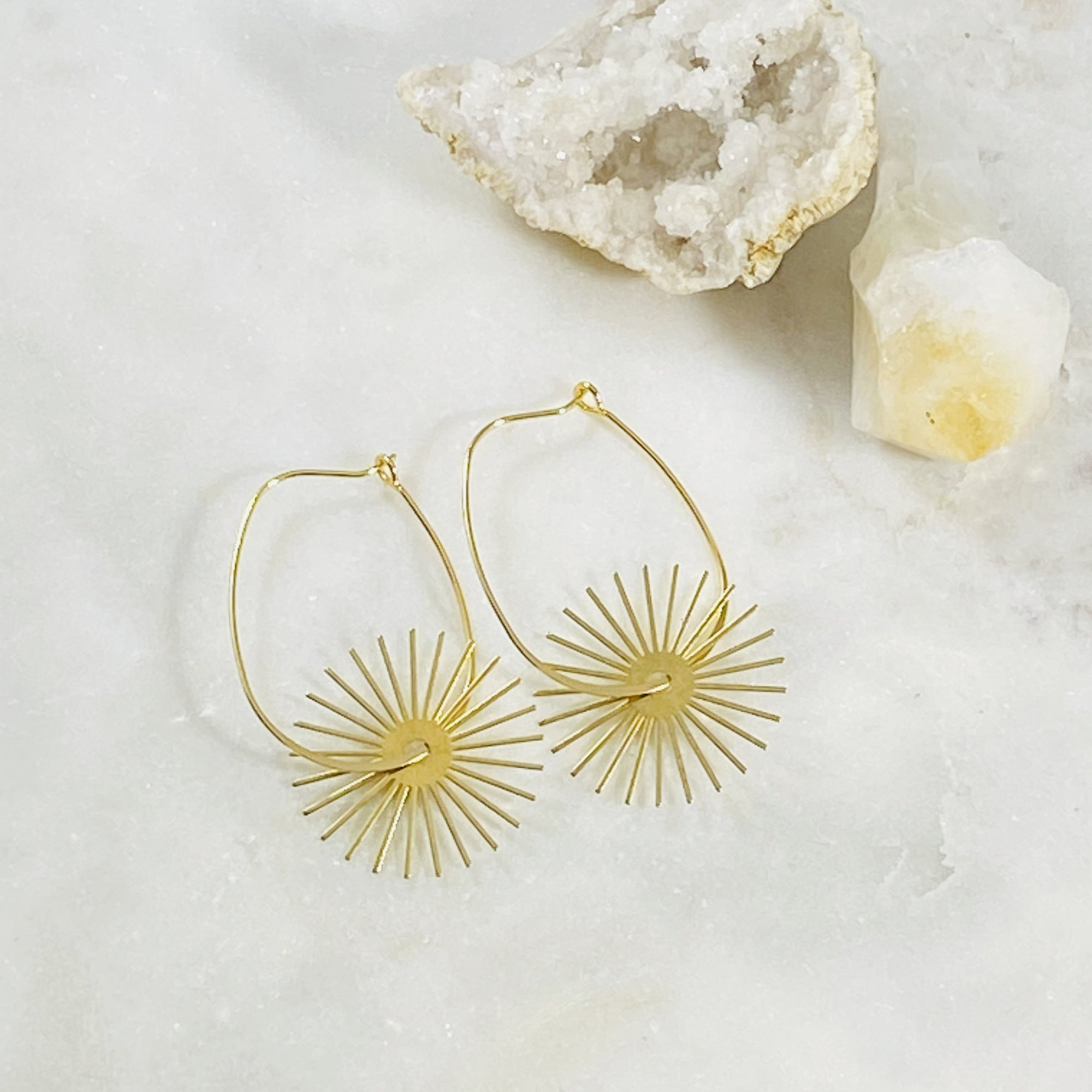 Radiance Hoop Earrings
