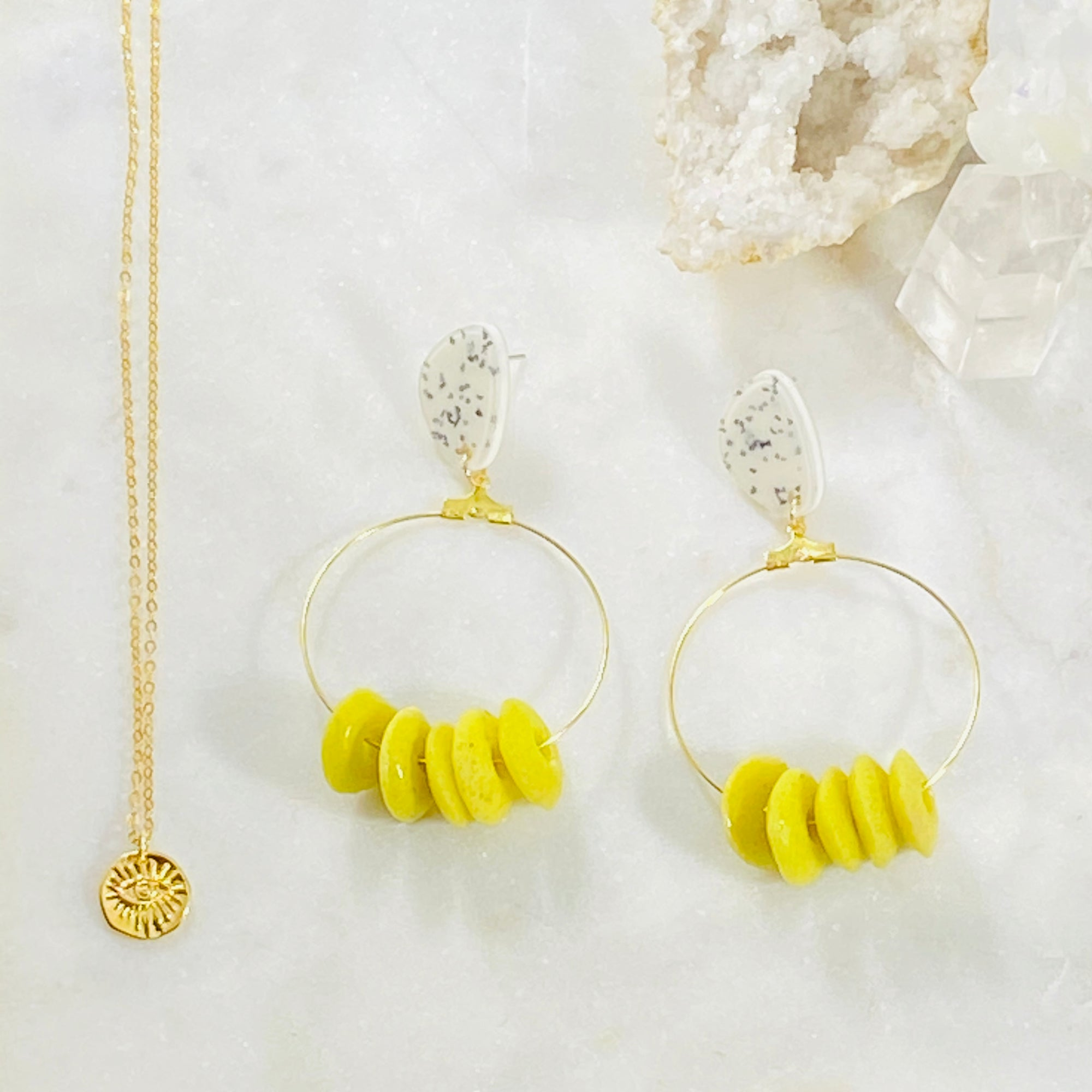 Rupika Earrings Chartreuse