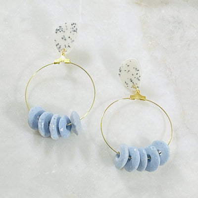 Handmade statement earrings with recycled glass