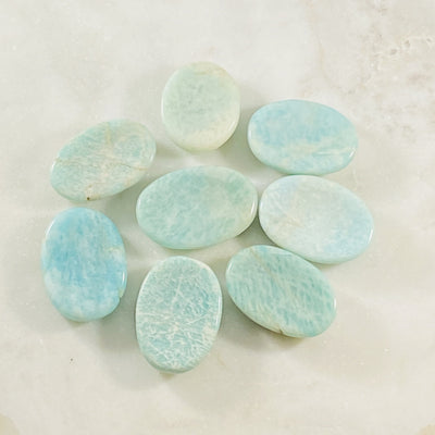 Amazonite worry stone for soothing stress
