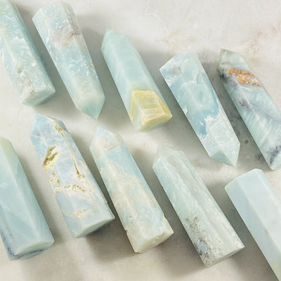 caribbean blue calcite for relaxation from sarah belle