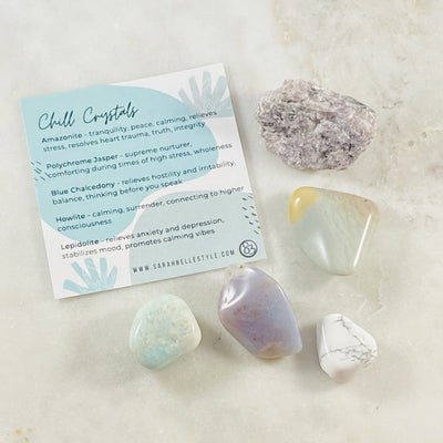 Healing crystal energy for relaxation and peace