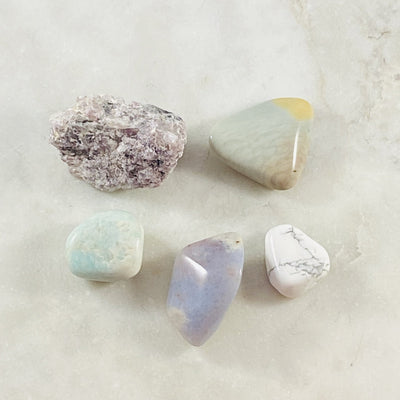 Healing crystal energy for calming