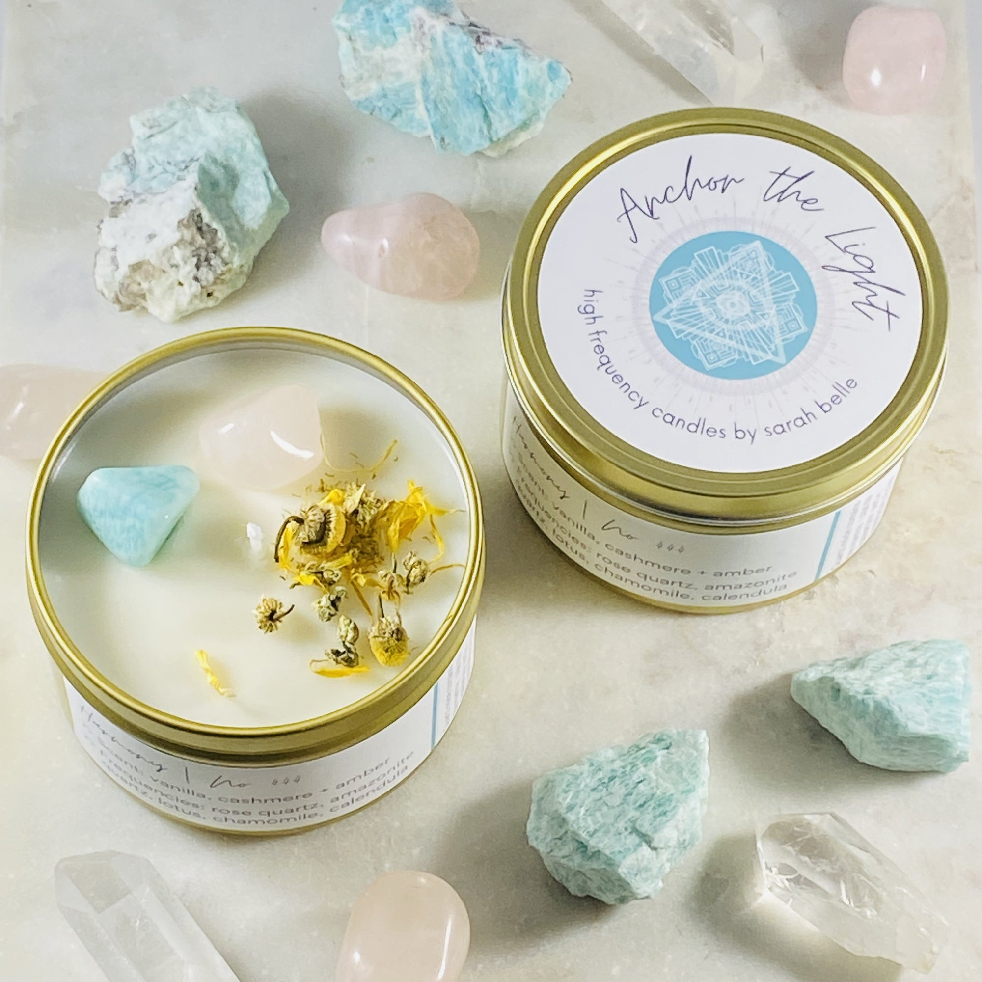 anchor the light harmony candle hand poured by sarah belle